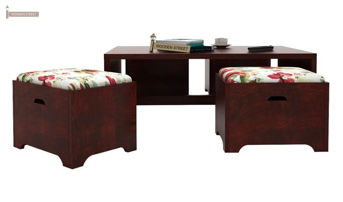 Breton 4 Seater Tea Table (Mahogany Finish)-2