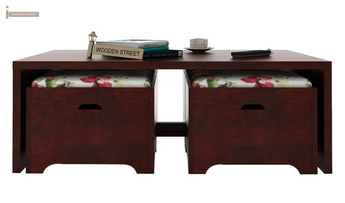 Breton 4 Seater Tea Table (Mahogany Finish)-3