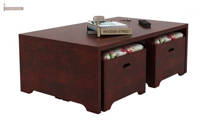 Breton 4 Seater Tea Table (Mahogany Finish)-4