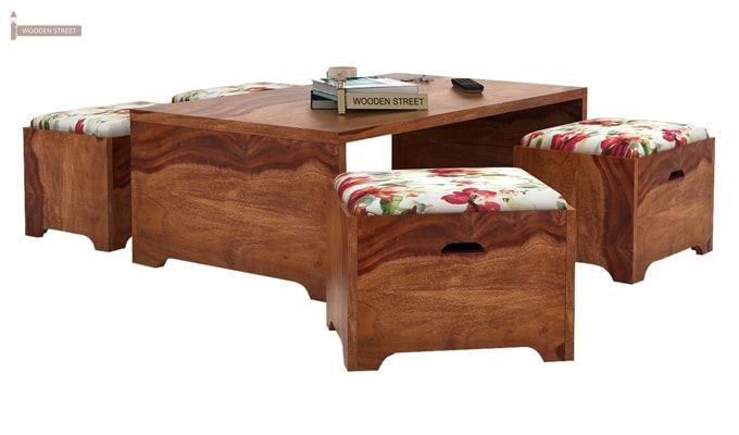 Breton 4 Seater Tea Table (Teak Finish)-1
