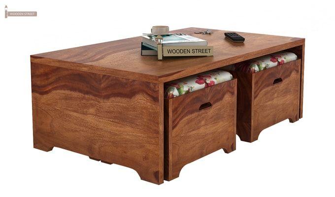 Breton 4 Seater Tea Table (Teak Finish)-3