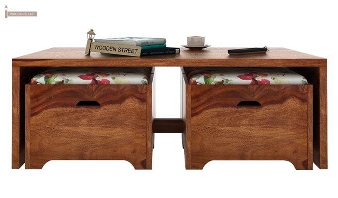 Breton 4 Seater Tea Table (Teak Finish)-4