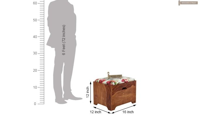 Breton 4 Seater Tea Table (Teak Finish)-9