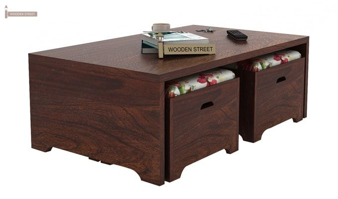 Breton 4 Seater Tea Table (Walnut Finish)-3