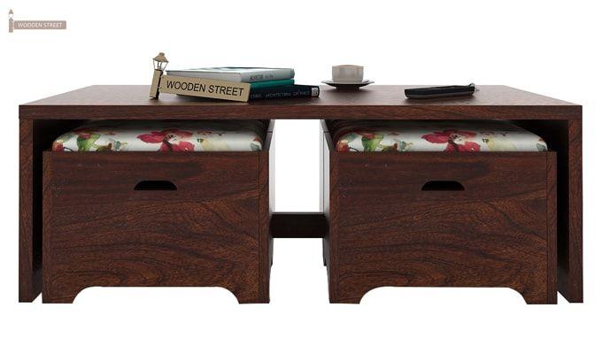 Breton 4 Seater Tea Table (Walnut Finish)-4