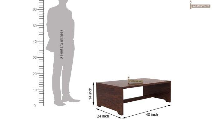 Breton 4 Seater Tea Table (Walnut Finish)-8