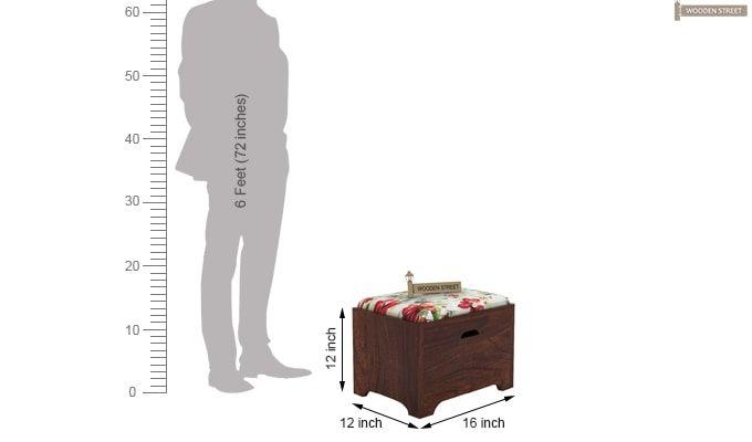 Breton 4 Seater Tea Table (Walnut Finish)-9