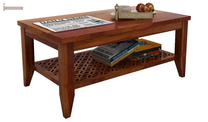 Cambrey Coffee Table (Honey Finish)-2