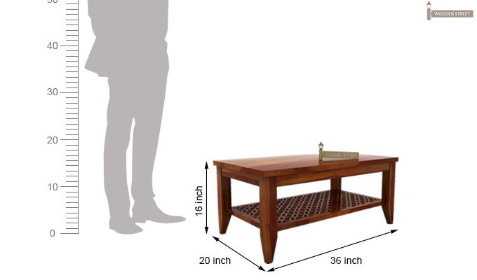 Cambrey Coffee Table (Honey Finish)-6