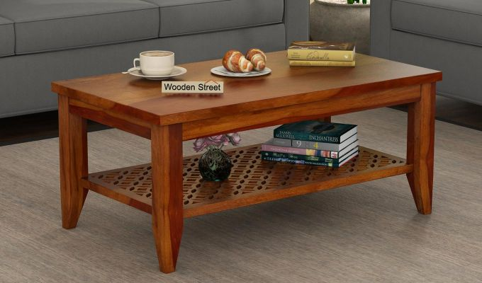 Cambrey Coffee Table (Honey Finish)-1