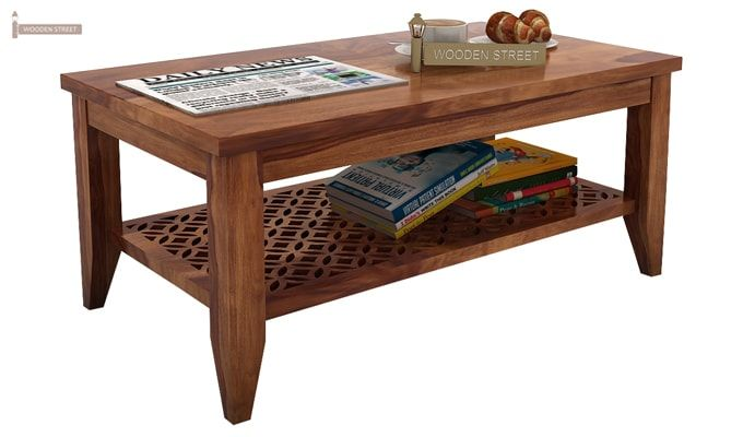Cambrey Coffee Table (Teak Finish)-1