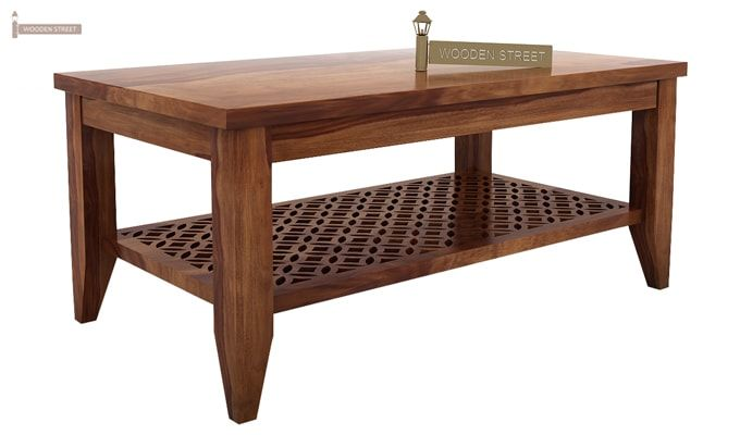 Cambrey Coffee Table (Teak Finish)-3