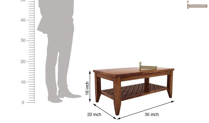 Cambrey Coffee Table (Teak Finish)-5