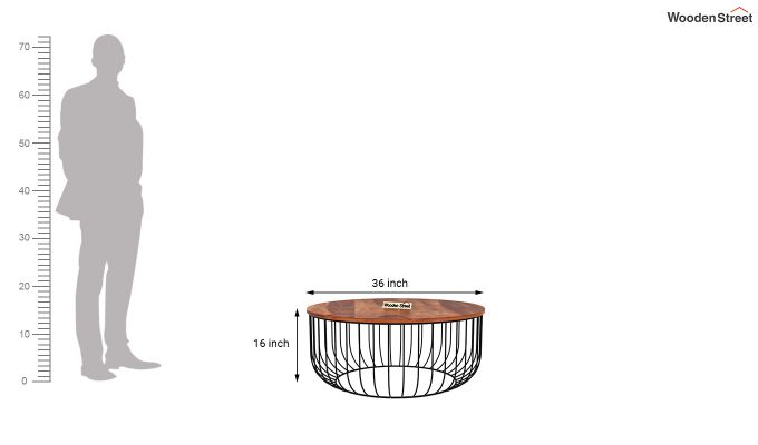 Cantina Coffee Table (Honey Finish)-4