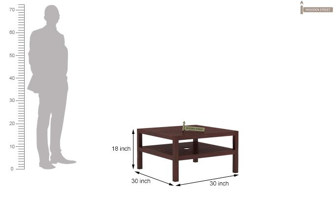 Clara Coffee Table (Mahogany Finish)-6
