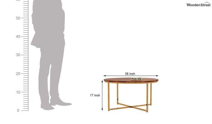 Crio Coffee Table (Teak Finish)-5
