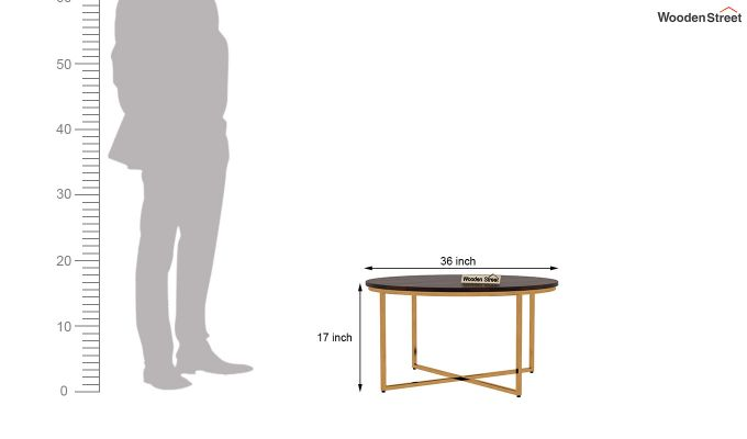 Crio Coffee Table (Walnut Finish)-5