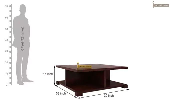 Crowley Coffee Table (Mahogany Finish)-5