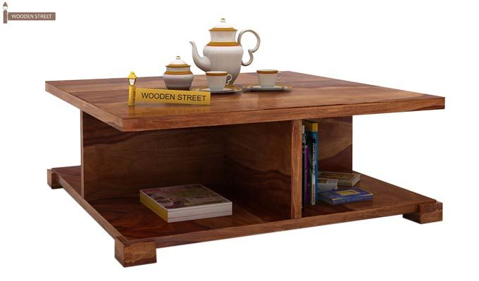 Crowley Coffee Table (Teak Finish)-1