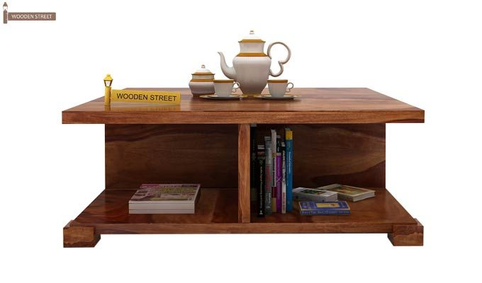 Crowley Coffee Table (Teak Finish)-2