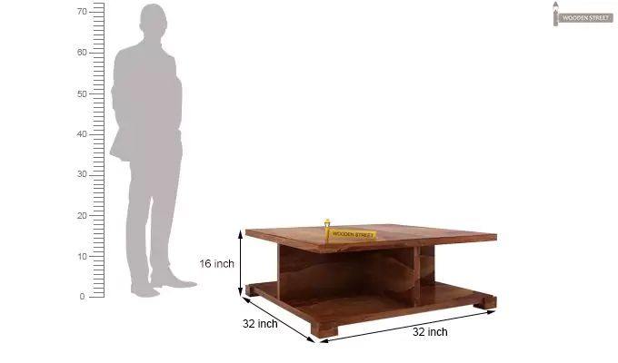 Crowley Coffee Table (Teak Finish)-5