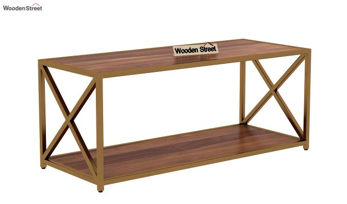 Crux Coffee Table (Teak Finish)-3