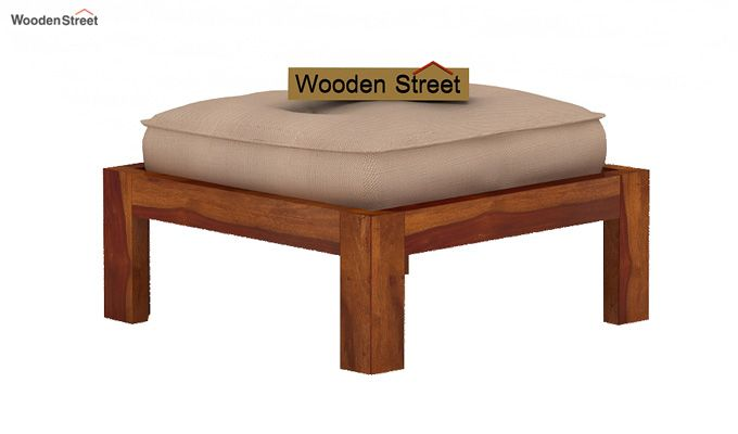 Dallas Coffee Table With Stools (Honey Finish)-4