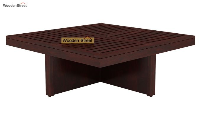 Dallas Coffee Table With Stools (Mahogany Finish)-3