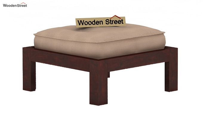 Dallas Coffee Table With Stools (Mahogany Finish)-4