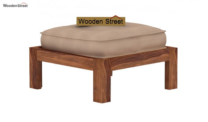 Dallas Coffee Table With Stools (Teak Finish)-4