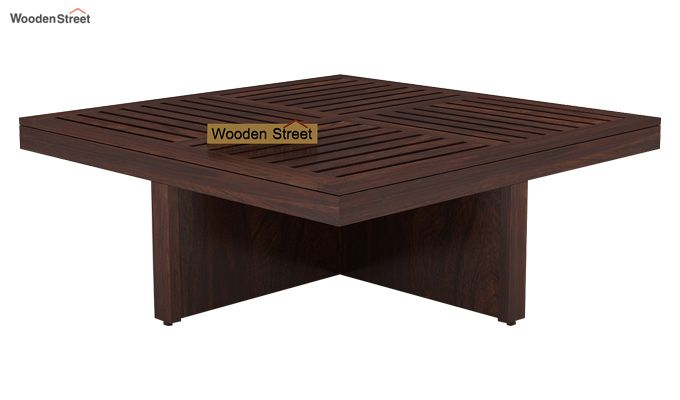 Dallas Coffee Table With Stools (Walnut Finish)-3