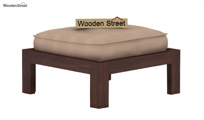 Dallas Coffee Table With Stools (Walnut Finish)-4