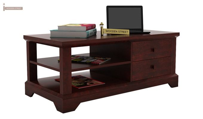 Dempsie 4 Drawer Center Table (Mahogany Finish)-1
