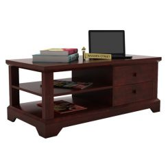 Dempsie 4 Drawer Center Table (Mahogany Finish)