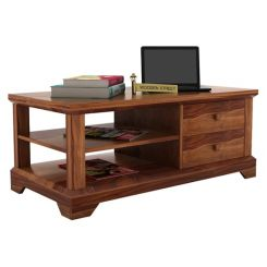 Dempsie 4 Drawer Center Table (Teak Finish)