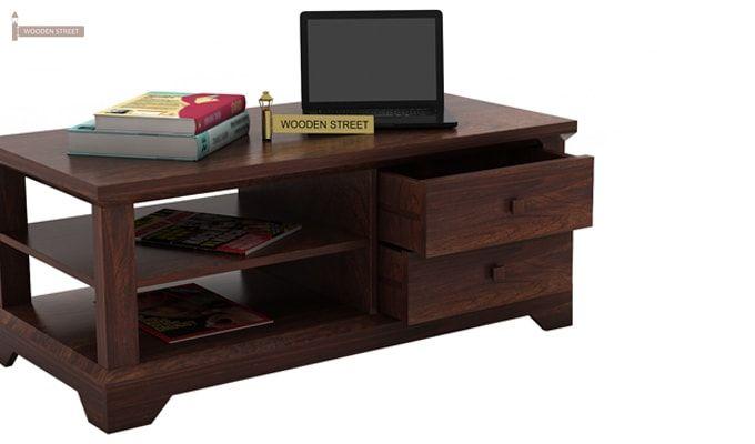 Dempsie 4 Drawer Center Table (Walnut Finish)-3