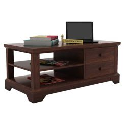 Dempsie 4 Drawer Center Table (Walnut Finish)