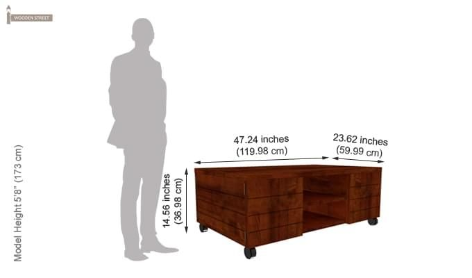 Diego Centre Table (Honey Finish)-3