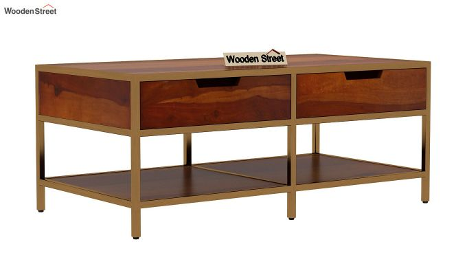 Draco Coffee Table (Honey Finish)-3