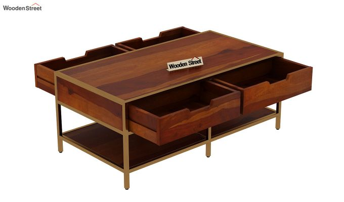 Draco Coffee Table (Honey Finish)-6