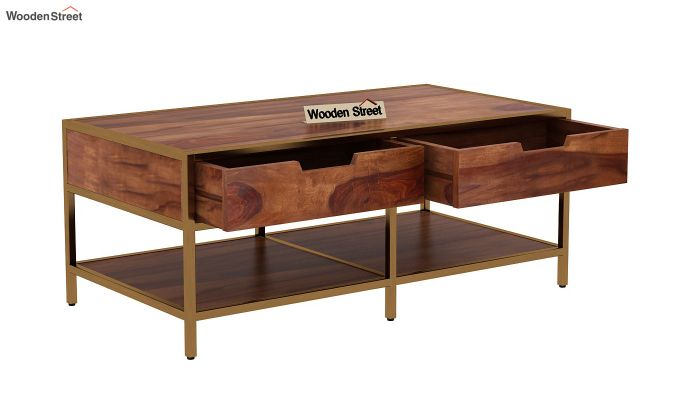 Draco Coffee Table (Teak Finish)-5