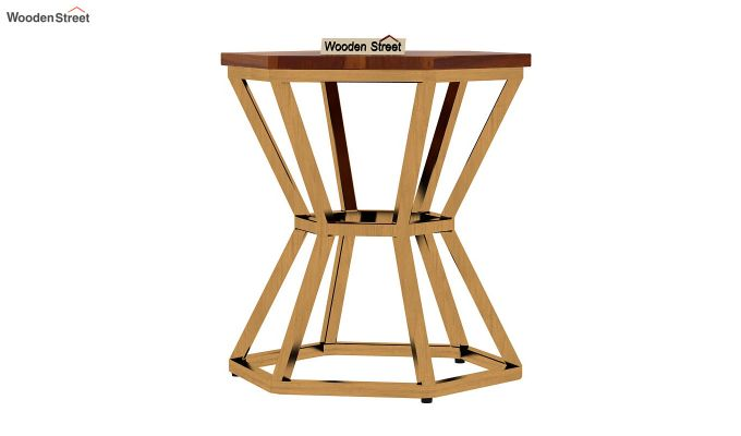 Drome Side End Table (Honey Finish)-3