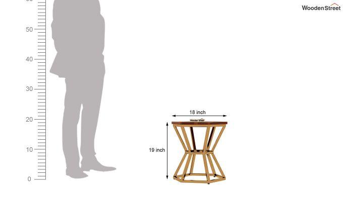 Drome Side End Table (Honey Finish)-5