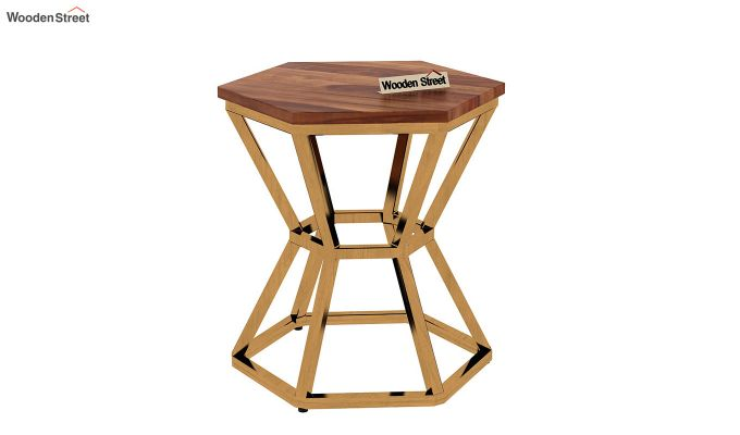 Drome Side End Table (Teak Finish)-4