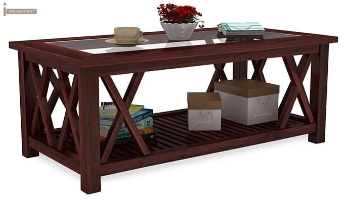 Duarte Coffee Table (Mahogany Finish)-2