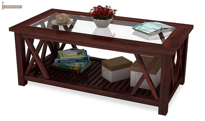 Duarte Coffee Table (Mahogany Finish)-5