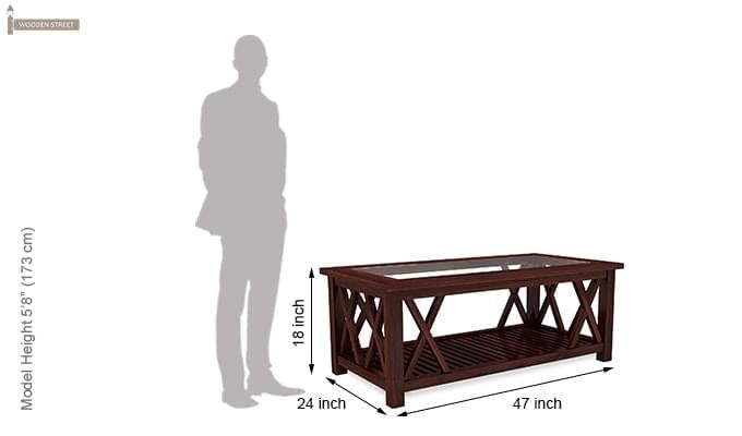 Duarte Coffee Table (Mahogany Finish)-7
