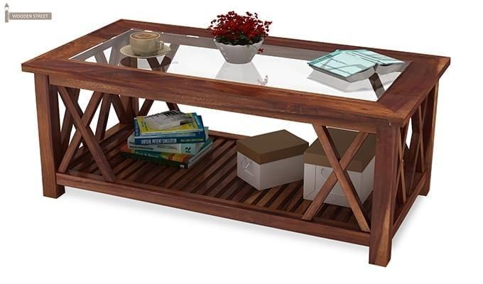 Duarte Coffee Table (Teak Finish)-5