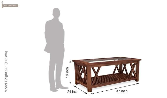 Duarte Coffee Table (Teak Finish)-7