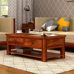 Dulcie 4 Drawer Center Table (Honey Finish)